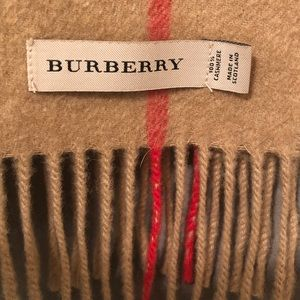 Authentic 100% Cashmere Burberry Fringed Scarf
